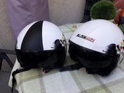 2x Motorradhelme