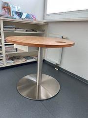 Tisch rund Holzoptik