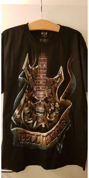 T-Shirt Rocker Totenkopf Gitarre
