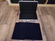 Münzsammel-Koffer aus Aluminium