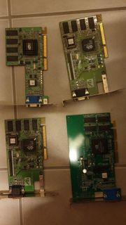 Vier unterschiedliche VGA Karten als