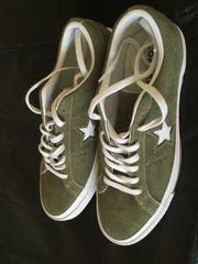 Converse Chucks Leder Olivgrün Größe