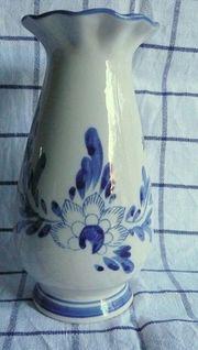 Delfter Keramikvase handbemalt in typischem
