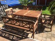 Terrassen Sitzgruppe aus Hartholz 5teilig
