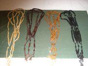 12 x Rosenkranz Holzkette mit