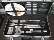 Grillbesteck im Alu-Koffer Edelstahl 15-tlg