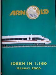 Arnold Modellbahnkataloge von 1992 - 2000