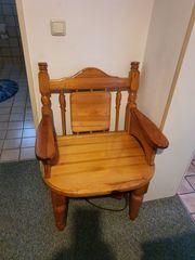 Stuhl rustikalle Still massive Holz