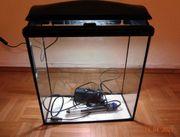 Aquarium mit Leuchtstoffröhre Schwarze Abdeckung