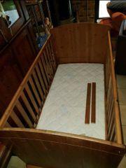 Kinderbett Massiv Holz 140x70 mit