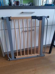 Treppengitter aus Holz Metall