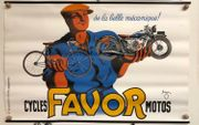 Altes Reklame Plakat Motorrad Cycles