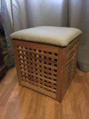 Wäschebox Wäschekorb aus Holz mit