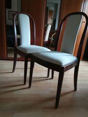 2 Esszimmer-Stühle 70iger Stil zu