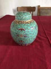 Deko-Gefäß Dose mit Deckel Porzellan