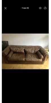 Chesterfield Couch Echtleder