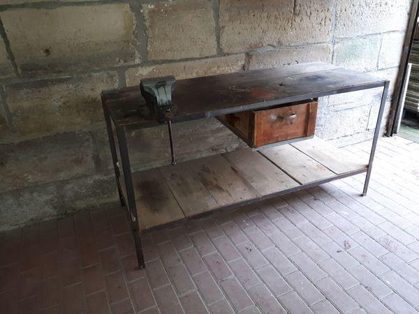 Werkbank Arbeitstisch Vintage Loft Industriedesign