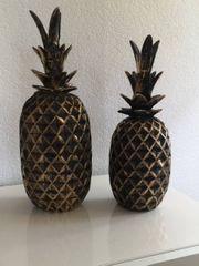 2X Ananas Deko Set
