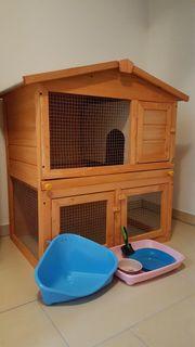 Kaninchenstall und Zubehör zu verkaufen