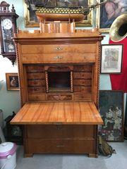 Antiquität Biedermeier Standsekretär Schreibtisch Schrank