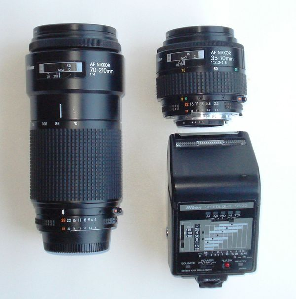 Nikon Objektive Blitz zu verkaufen