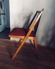 Massivholz Stühle 50iger Jahre