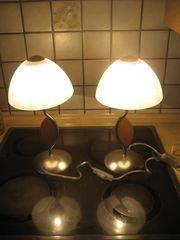 2 wunderschöne Tischleuchten Schlafzimmerlampen Glas