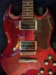 Neue E-Gitarre SG Cherry von