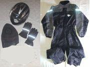 Integral-Helm Regenanzug Handschuhe Sturmhaube