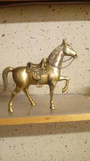 KAMIN DEKORATION - Pferd aus masiv