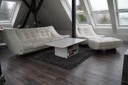Sofa 3-sitzig Sessel und Hocker