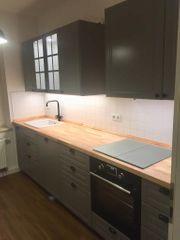 Küchenzeile Küche Ikea grau