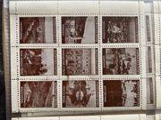 Uralte Briefmarken Vignetten von 1910