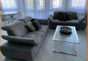 Couch Sofa Sessel Grau 2