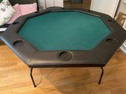 Pokertisch Casino 8-eckig klappbar schwarz