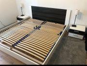 Doppelbett inkl Lattenroste und Nachtkästchen