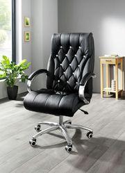 Bürostuhl Chefsessel schwarz mit Strasssteine