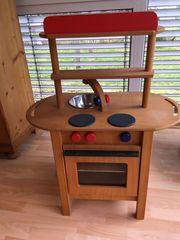 Spielküche aus Echtholz Holz-Spielküche Kinderküche