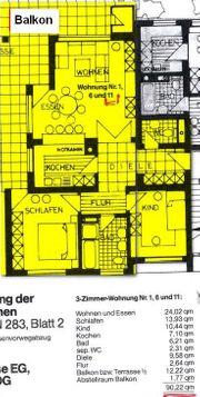Provisionsfrei Super 3 Zimmerwohnung teilmöbliert