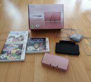 Nintendo 3DS rosa inkl 3