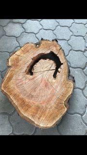 DIY-Tisch XXL Holzscheibe Baumscheibe Holz