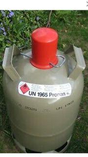 Eigentum Gasflasche grau leer