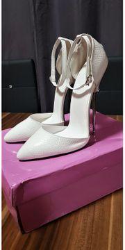 16 cm High Heels Weiß