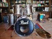 Schlagzeug Pearl Export mit Paiste