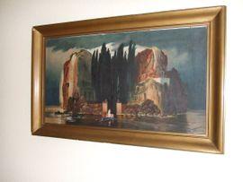 Kunst, Gemälde, Plastik - Kopie nach Arnold Böcklin Öl
