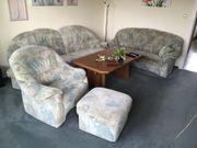 Couch Wohnlandschaft Sessel mit Tisch