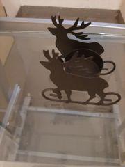 Weihnachts Teelichthalter im Elch Design