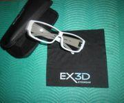 EX3D-Eyewear Brille-Weiss EX3D1009105 Neuwertig