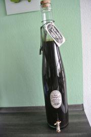 Gewürzflasche mit Auslaufhahn - zum Ansetzen -