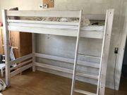 Möbelum Etagenbett Massivholz weiß